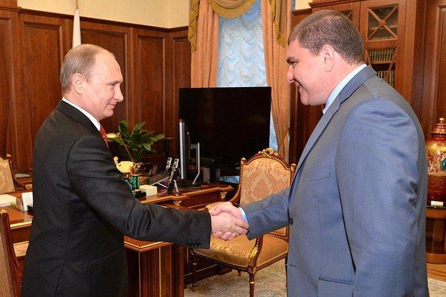 Владимир Путин и Вадим Потомский
