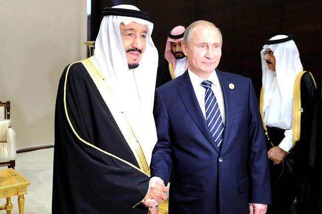 Сальман бен Абдель Азиз Аль Сауд и Владимир Путин