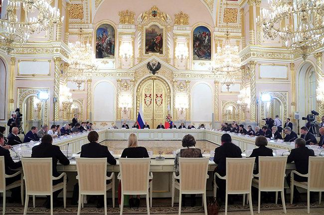Заседание Совета по развитию гражданского общества и правам человека.